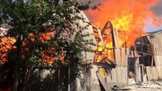 Fire at Monkton