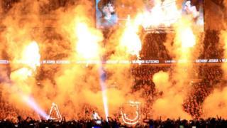 Anthony Joshua karşılaşma öncesi Wembley stadyumunda kendini gösteriyor