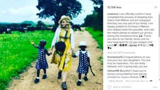 Madonna Instagram post