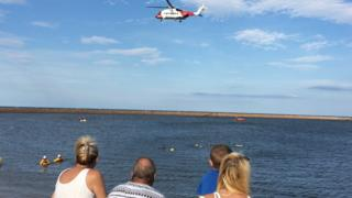 Sunderland dinghy rescue