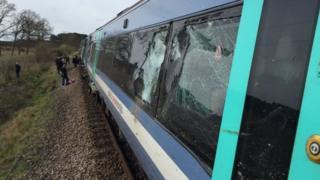 Train/tractor crash Roudham