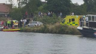 Rescue boats on Thames