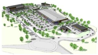 An aerial view of the proposed cinema