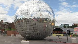 Giant glitter ball