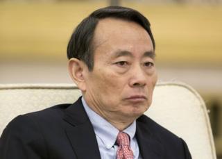 Jiang Jiemin, then Chairman of China National Petroleum Corporation (CNPC), is pictured in Beijing, China, 9 November 2012