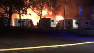 Sussex Caravan Centre fire