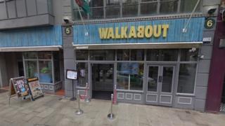 Walkabout bar in Swansea