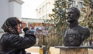 Tsar Nicholas II bust, Simferopol, 6 Mar 17