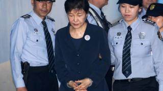 Park Geun-hye arrives in court in Seoul (23 May 2017)