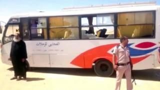 اتوبوس حامل مسیحیان قبطی