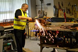 Man working in the Men's Shed