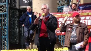 John McDonnell at rally in Sheffield