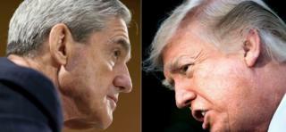 Robert Mueller (izq.) y Donald Trump