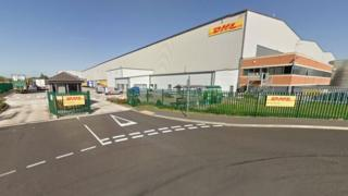 The DHL site in Harworth