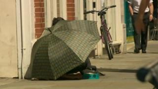 Begging in Gloucester