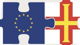 EU and Guernsey flags