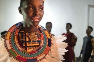 A model pictured during Swahili Fashion Week in Dar es Salaam, Tanzania - Saturday 2 December 2017