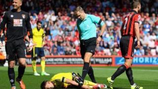 Gaston Ramirez na Middlesbrough ya fadi da gangan a gidan Bournemouth