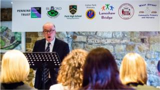 Headteacher Dr Paul Parkin at the launch of The Pennine Trust