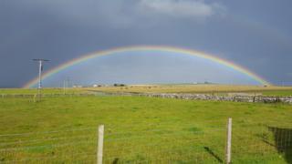 Rainbow at Ackergill, near Wick