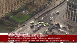 Britaniya parlament binosi oldida otishma