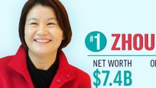 榜单上的周群飞是资产世界第一的百手起家女富豪。