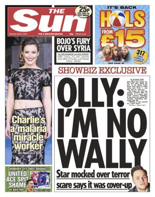 Sun front page - 09/04/18