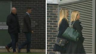 Liam Rosney and Victoria Rosney arriving at Mold Magistrates' Court