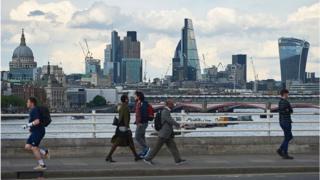 City view from Waterloo Bridge