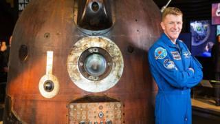 Tim Peake and capsule