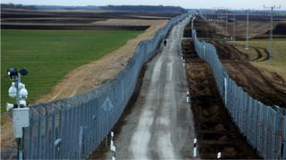 Macaristan'ın Sırbistan sınırına inşa ettiği dikenli teller