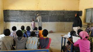 Une salle de classe à Ghao dans le Nord du Mali