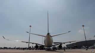 Suvarnabhumi International Airport in Bangkok