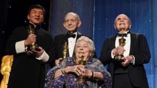 Anne V Coates, Jackie Chan, Frederick Wiseman and Lynn Stalmaster