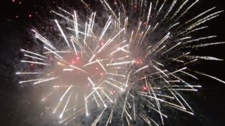 Fireworks display in Hull