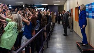 Hillary Clinton en Orlando, Florida.