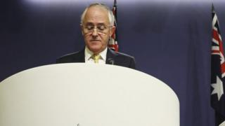 Australian Prime Minister Malcolm Turnbull speaks during a press conference on July 3, 2016 in Sydney, Australia