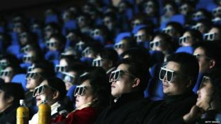 China movie goers at an IMAX theatre