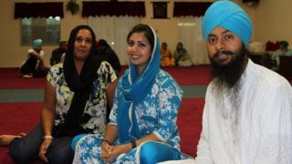 Sikhs in the Tanpa gurdwara