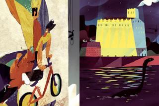 Радянські мозаїки, проспект Перемоги (Л) і млин Бродського, Поштова площа (П)