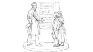 Statue design  -  99536202 george - George Boole: Bronze statue to honour Victorian coder