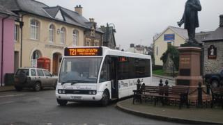 Bus in Tregaron, Ceredigion