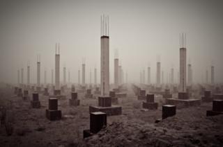 Заброшенная стройка торгового центра в Рязани