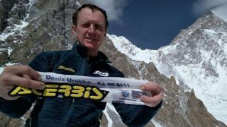 Denis Urubko, 44, poses for a photograph at the K2 base camp