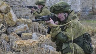 Росийские военные на учениях