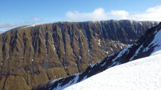 Aonach Mor west face on Sunday