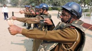 Top police officials in Haryana state have approved the use of slingshots