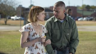 Shia LaBeouf in Man Down with co-star Kate Mara