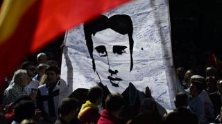 Manifestación por Miguel Ángel Blanco en Madrid