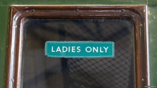 Ladies Only sign on Southern Railway 4-sub S8143S